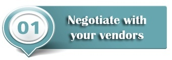 negotiate with vendors