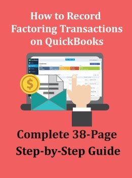 invoice factoring quickbooks recording